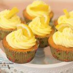 檸檬杯子蛋糕 Lemon cupcake with cream cheese frosting