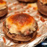 芝士薯茸煙肉焗釀大蘑菇(附食譜)